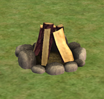 Ts2 logs of burning