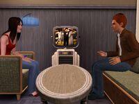 Christine in Bryan's room