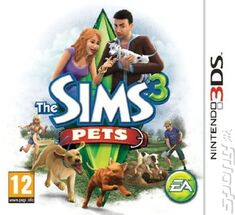 The Sims 3DS Pets box art