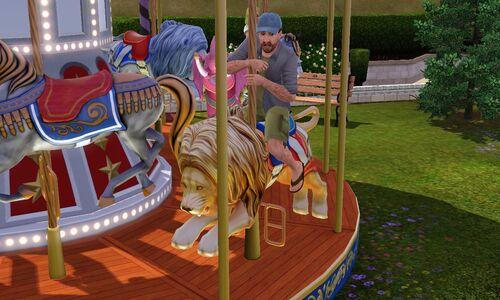 Carnival stuff carousel scared