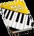 Book Skills Music Piano Yellow