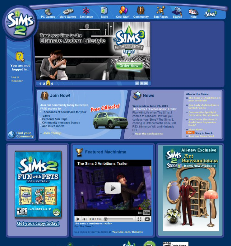 Thesims2 Com The Sims Wiki Fandom Powered By Wikia