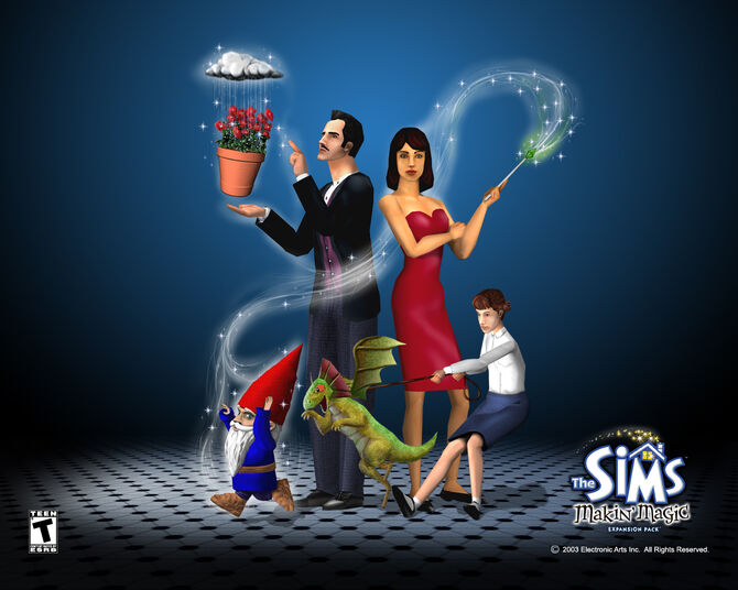 The sims makin magic wallpaper 1280x1024