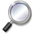 W magnifying glass