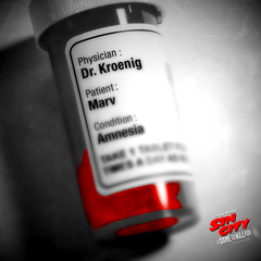Dr. Kroenig's name seen on Marv's medicine.