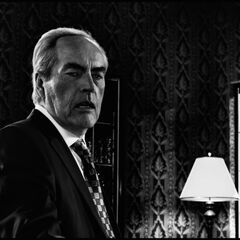 Staring at a wounded Nancy.