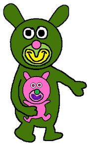 Apple with pink bunny sing a ma jig duet
