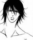 Cain standing up no shirt