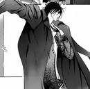 Cain grabbing his coat