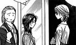 Yoshiomoto and chiori looks away from kyoko