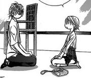 Kuon and Kyoko talking