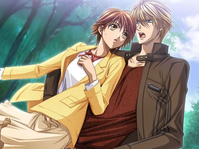 File:Sho with Kyoko in the game.jpg