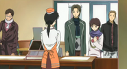 Old kyoko with customers