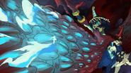 Eliza destroying the Skull Heart