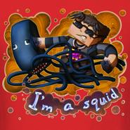 Men-s-t-shirt-i-m-a-squid design