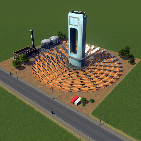 In-game solar power plant