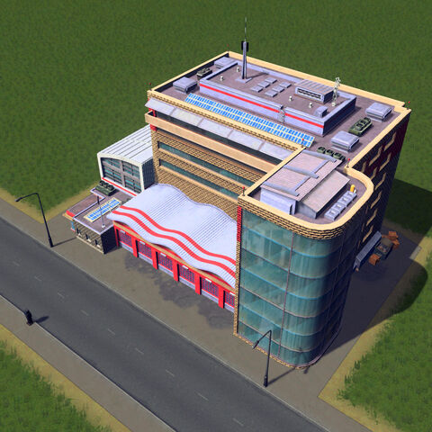 In-game fire station