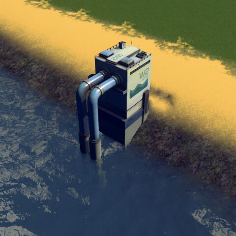 In-game water pumping station