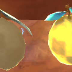 A rotten Phase Lemon and normal Phase Lemon, side by side.