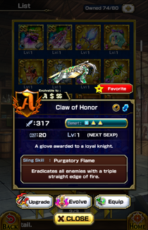 Claw of Honor