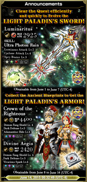 Knights of the Luminaire Gear