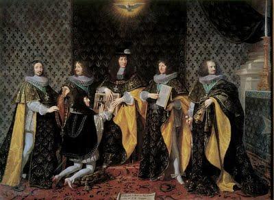 File:Louis XIV, au lendemain de son sacre, reçoit le serment de son frère Monsieur, duc d'Anjou, comme chevalier de l'Ordre du Saint-Esprit à Reims, le 8 juin 1654, par Philippe de Champaigne.jpg