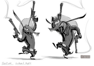 Toothpick sketches Paul Sullivan