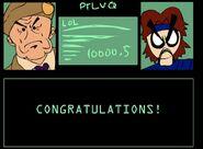 Toon snake congratulations