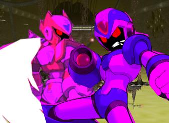Pandora Zero and Megaman