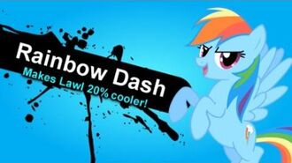 Super Smash Bros. Lawl Nitro - Rainbow Dash Moveset