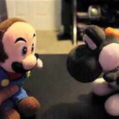 Mario while bald.