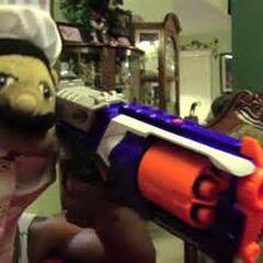 Chef Pee Pee with his Nerf gun