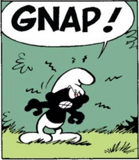 Black Smurf Comic