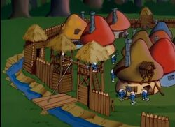 Smurf Village Fence