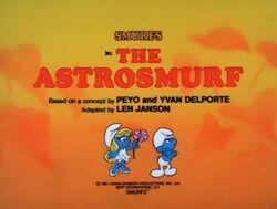 Astrosmurf Episode Title Card