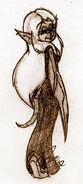 Hethera in Gentle Back Pose - Smurfs