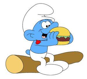 Hefty Eating Burger