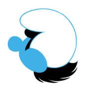 Original Moxette Head Logo - Smurfs