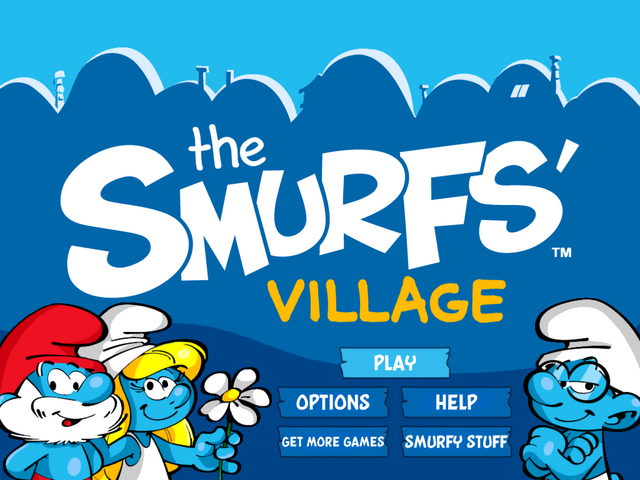File:Smurf's Village Welcome Screen.png