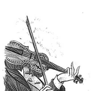 Nero with a violin