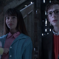 The Baudelaires meet Count Olaf.