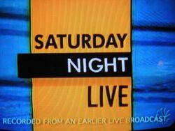 SNL Season 12 Title Card