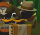 Dashing Moustache Tails' accordion