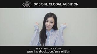 Tiffany MESSAGE 2015 S.M. GLOBAL AUDITION