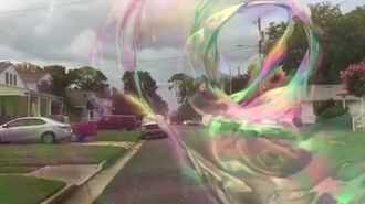 Inside a Giant Bubble Tube in slow motion