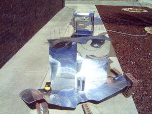Scrap titanium and leftover mirror sheets