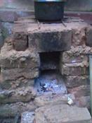 Front vieve of wood burning stove