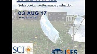 Webinar - Solar cooker performance evaluation
