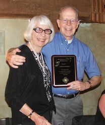 Barbara Knudson with Bob Metcalf receiving Order of Excellence Award 2005