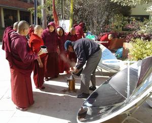 FoST parabolics at Tek Chok Ling Nunnery, Bauda, Nepal, 1-4-17